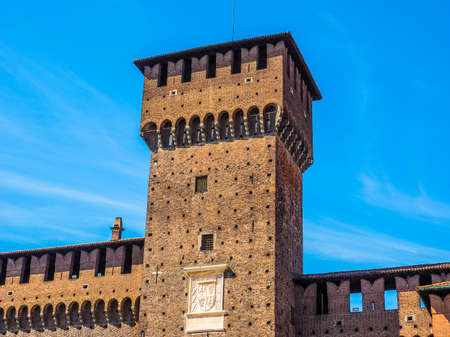 sforzesco: High dynamic range HDR Castello Sforzesco meaning Sforza Castle in Milan Italy