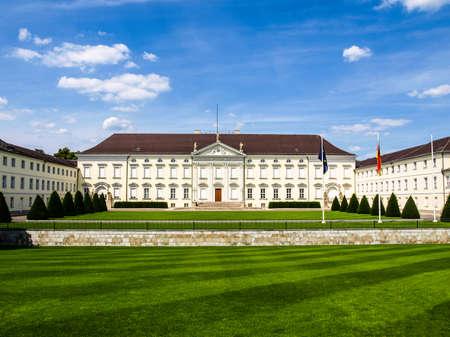 High dynamic range HDR Schloss Bellevue, Berlin - historical baroque royal palace
