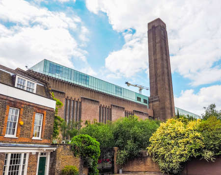 powerstation: High dynamic range HDR Tate Modern art gallery in South Bank power station in London, UK