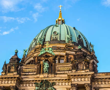 dom: High dynamic range HDR Berliner Dom cathedral church in Berlin Germany Banque d'images