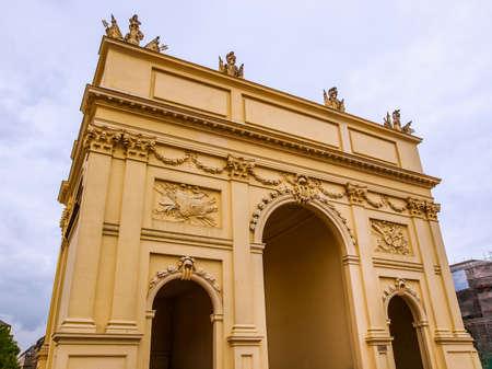 brandenburg gate: High dynamic range HDR Brandenburger Tor Brandenburg Gate in Potsdam Berlin Germany