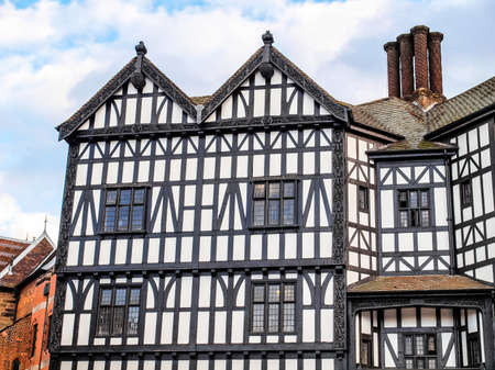 High dynamic range HDR Ancient wooden frame Tudor building in Coventry, UK