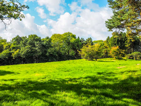 High dynamic range HDR English countryside in Tanworth in Arden Warwickshire, UK Stock Photo
