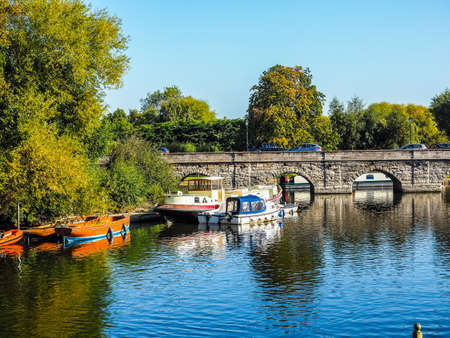 High dynamic range HDR River Avon in Stratford upon Avon, UK