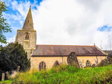 saint nick: High dynamic range HDR Parish Church of St Mary Magdalene in Tanworth in Arden, UK Stock Photo