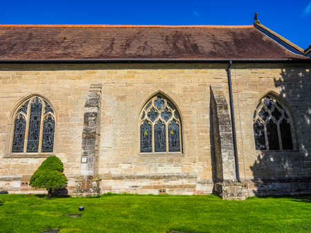 High dynamic range HDR Parish Church of St Mary Magdalene in Tanworth in Arden, UK Stock Photo