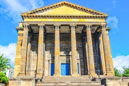 High dynamic range HDR Wellington Church in Glasgow west end, Scotland