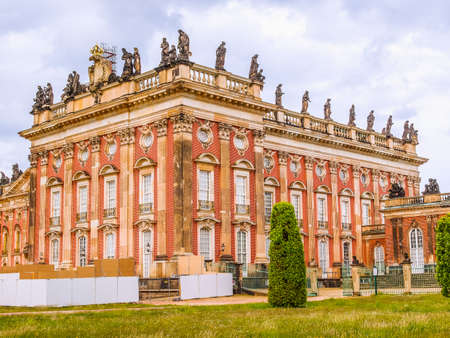 High dynamic range HDR Ruins of the Neues Palais new royal palace in Park Sanssouci in Potsdam Berlin Editorial