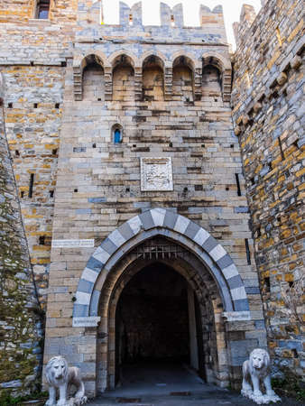 castello: High dynamic range HDR Castello d Albertis gothic revival castle in Genoa Italy