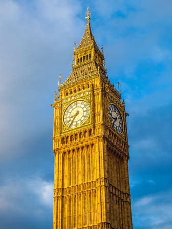 bigben: High dynamic range HDR Big Ben Houses of Parliament Westminster Palace London gothic architecture Editorial