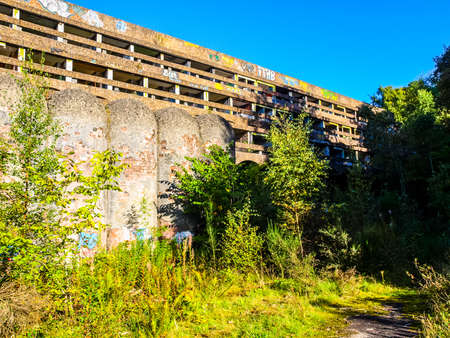 High dynamic range HDR Ruins of St Peter Seminary, iconic new brutalist building in Cardross nr Glasgow, Scotland