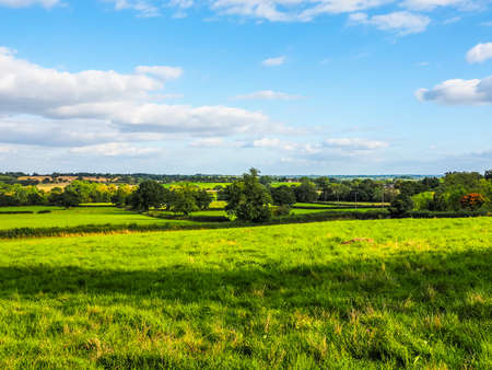 arden: High dynamic range HDR English countryside in Tanworth in Arden Warwickshire, UK Stock Photo