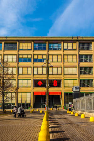 TURIN, ITALY - DECEMBER 16, 2015: The Lingotto centre designed by Matte Trucco in 1919 as a Fiat car factory isand is now a conference and business centre restored by Renzo Piano (HDR)