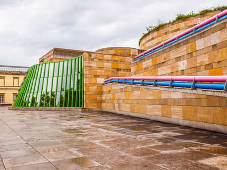 postmodern: STUTTGART, GERMANY - JULY 13, 2012: The Neue Staatsgalerie art gallery is a masterpiece of postmodern architecture designed by British architect Sir James Stirling in 1977 (HDR) Editorial