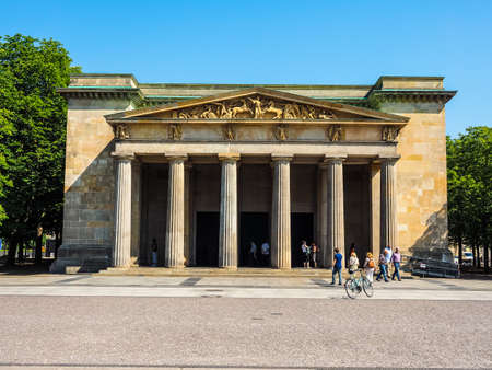 dictatorship: BERLIN, GERMANY - CIRCA JUNE 2016: Neue Wache (meaning New Guardhouse) Central Memorial of the Federal Republic of Germany for the Victims of War and Dictatorship (HDR)