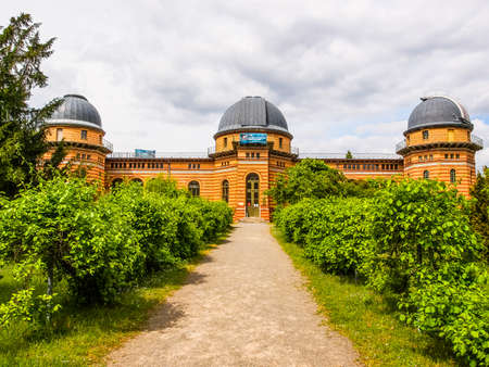 astrophysics: POTSDAM, GERMANY - MAY 10, 2014: Michelson Haus at Leibniz Institute for Astrophysics (HDR)