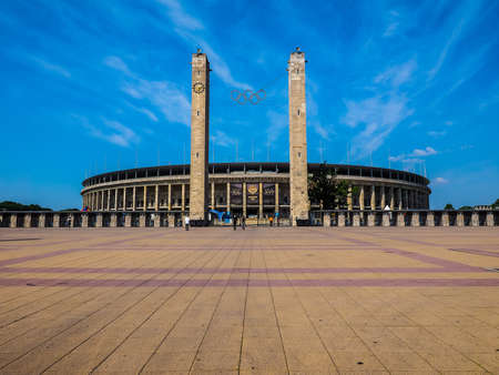 olympic stadium: BERLIN, GERMANY - CIRCA JUNE 2016: Olympiastadion (meaning Olympic Stadium) (HDR)