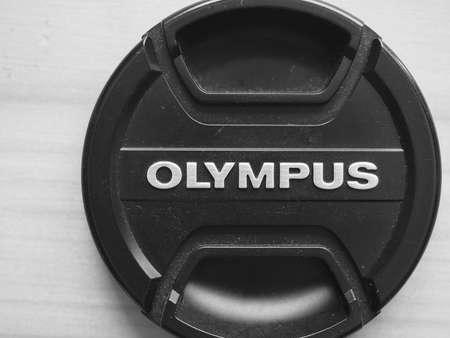 olympus: TOKYO, JAPAN - CIRCA AUGUST 2016: Olympus lens cap