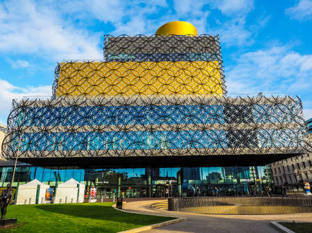 birmingham: BIRMINGHAM, UK - SEPTEMBER 25, 2015: Library of Birmingham designed by Mecanoo architects is the new public library in Birmingham (HDR)