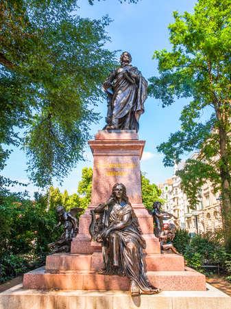 ludwig: High dynamic range HDR The Mendelssohn Denkmal monument to German musician Jakob Ludwig Felix Mendelssohn Bartholdy was designed by Werner Stein in 1892 in Leipzig Germany