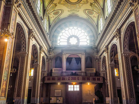 immaculate conception: TURIN, ITALY - CIRCA JUNE 2016: San Donato Immacolata Concezione (meaning Immaculate Conception) church (HDR)