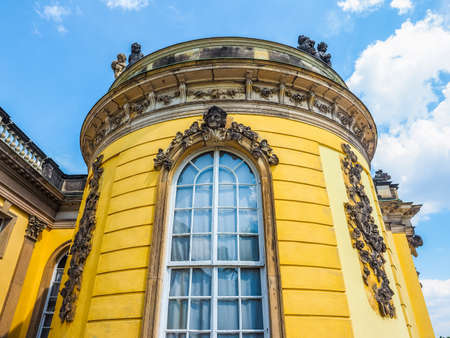 frederick: POTSDAM, GERMANY - CIRCA JUNE 2016: Schloss Sanssouci royal summer palace of Frederick the Great King of Prussia (HDR)