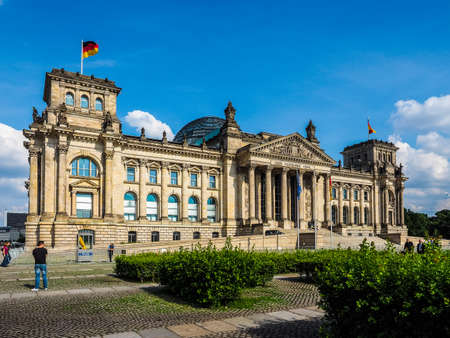 hdr: BERLIN, GERMANY - CIRCA JUNE 2016: Reichstag houses of parliament (HDR) Editorial