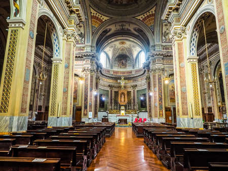 immaculate: TURIN, ITALY - CIRCA JUNE 2016: San Donato Immacolata Concezione (meaning Immaculate Conception) church (HDR)