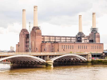 battersea: High dynamic range HDR Battersea Power Station in London England UK