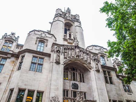 High dynamic range HDR Ostateczny sąd apelacyjny najwyższej instancji w Parliament Square w Londynie