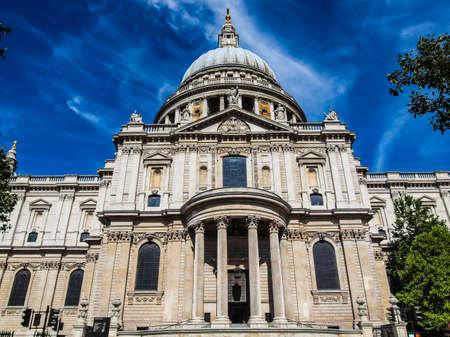 dom: Gamme dynamique élevée HDR St Paul Cathedral à Londres Royaume-Uni (UK)