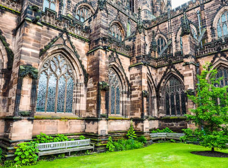 chester: High dynamic range (HDR) Chester Anglican Cathedral church in Chester, UK Stock Photo