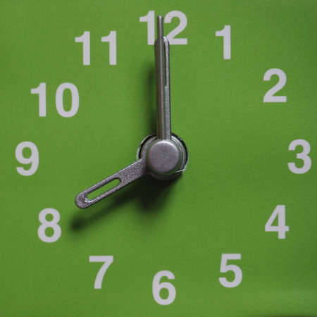 eight: Clock showing time - 8 eight o clock Stock Photo