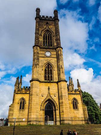 High dynamic range (HDR) The St Luke church in Liverpool, UK