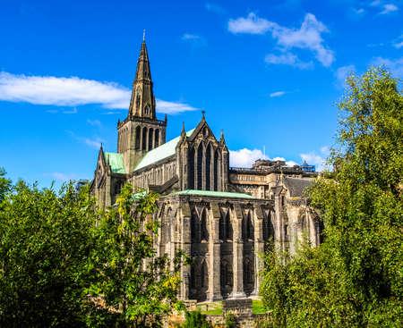 高ダイナミック レンジ HDR グラスゴー大聖堂グラスゴーの高のカークを別名または聖 Kentigern、聖マンゴー