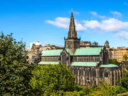 kirk: High dynamic range HDR Glasgow cathedral aka High Kirk of Glasgow or St Kentigern or St Mungo