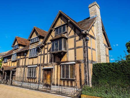 stratford: High dynamic range HDR William Shakespeare birthplace in Stratford Upon Avon, UK