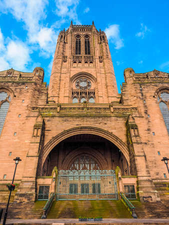 gilbert: High dynamic range (HDR) Liverpool Cathedral aka Cathedral Church of Christ or Cathedral Church of the Risen Christ on St James Mount in Liverpool, UK