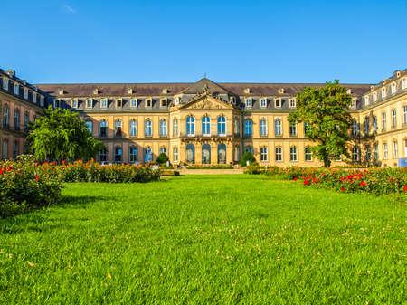 High dynamic range HDR Neues Schloss (New Castle) in Stuttgart, Germany Editorial