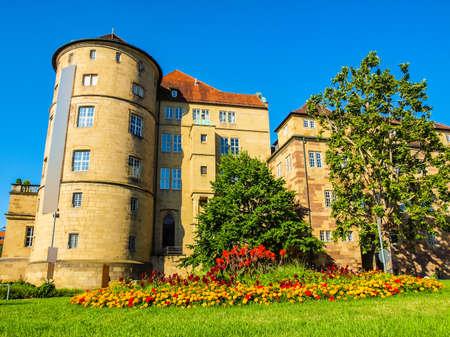 High dynamic range HDR Altes Schloss (Old Castle) in Stuttgart, Germany