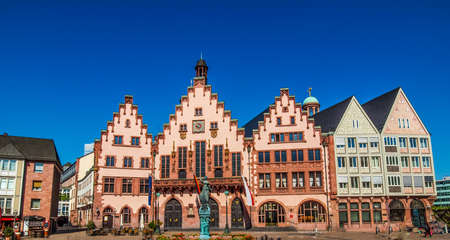 roemerberg: High dynamic range HDR Roemerberg old city in Frankfurt am Main Germany