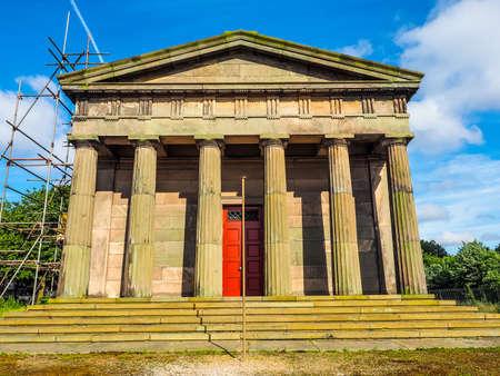 oratoria: Alto rango dinámico (HDR) El Oratorio de Santiago en el cementerio de la catedral de Liverpool en Liverpool, Reino Unido