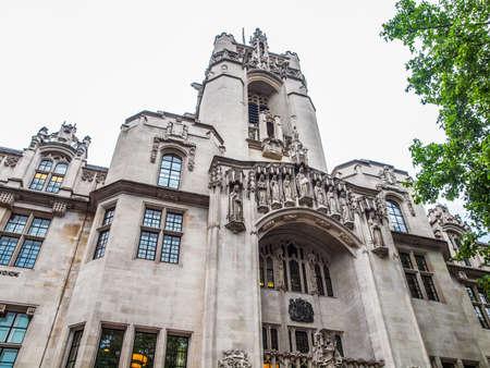 High dynamic range HDR La corte d'appello finale della Corte Suprema in Parliament Square a Londra
