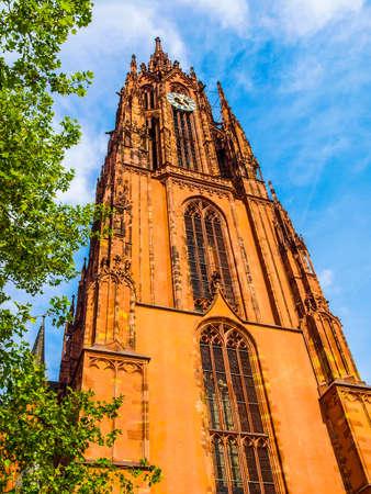 dom: High dynamic range HDR Frankfurter Dom Cathedral in Roemerberg Frankfurt am Main Germany