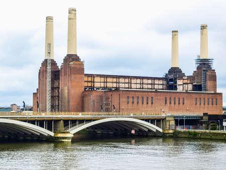 battersea: High dynamic range HDR Battersea Power Station in London, England, UK Stock Photo