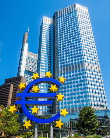 High dynamic range HDR European Central Bank in Frankfurt am Main Germany