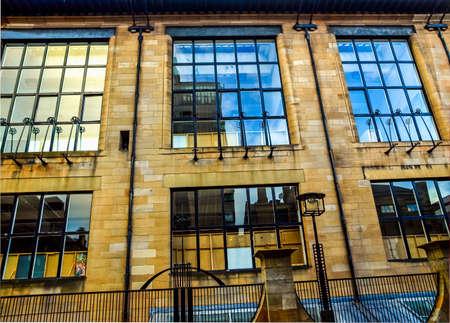 mackintosh: High dynamic range HDR The Glasgow School of Art designed in 1896 by Scottish architect Charles Rennie Mackintosh, Glasgow, Scotland