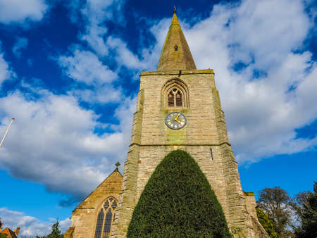 arden: High dynamic range HDR Parish Church of St Mary Magdalene in Tanworth in Arden, UK Stock Photo