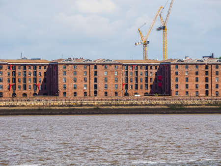 High dynamic range (HDR) The Albert Dock complex of dock buildings and warehouses in Liverpool, UK