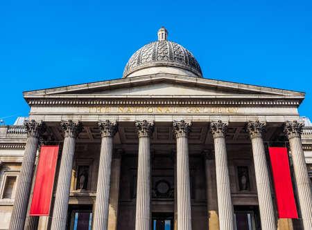 trafalgar: High dynamic range HDR The National Gallery in Trafalgar Square in London, UK